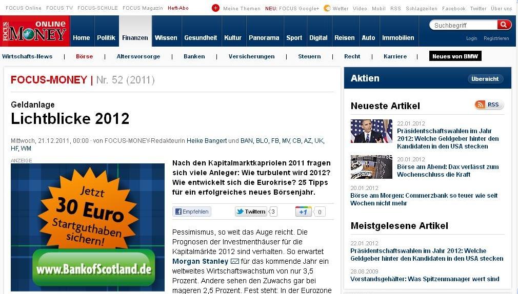 Focus Money-Tipp: Geld anlegen bei smava.de
