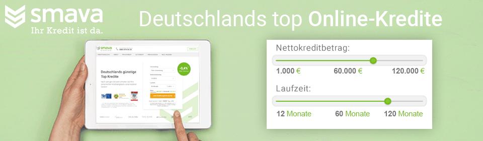 Deutschlands Top Online Kredite